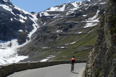 Never look up at Stelvio Pass
